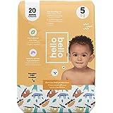 Hello Bello Jumbo Disposable Diapers Size 5 - Sleepy Sloth - Size 5, 27lbs+, 20 Count
