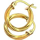 Citerna Ladies Hoop 9 ct Yellow Gold Earrings