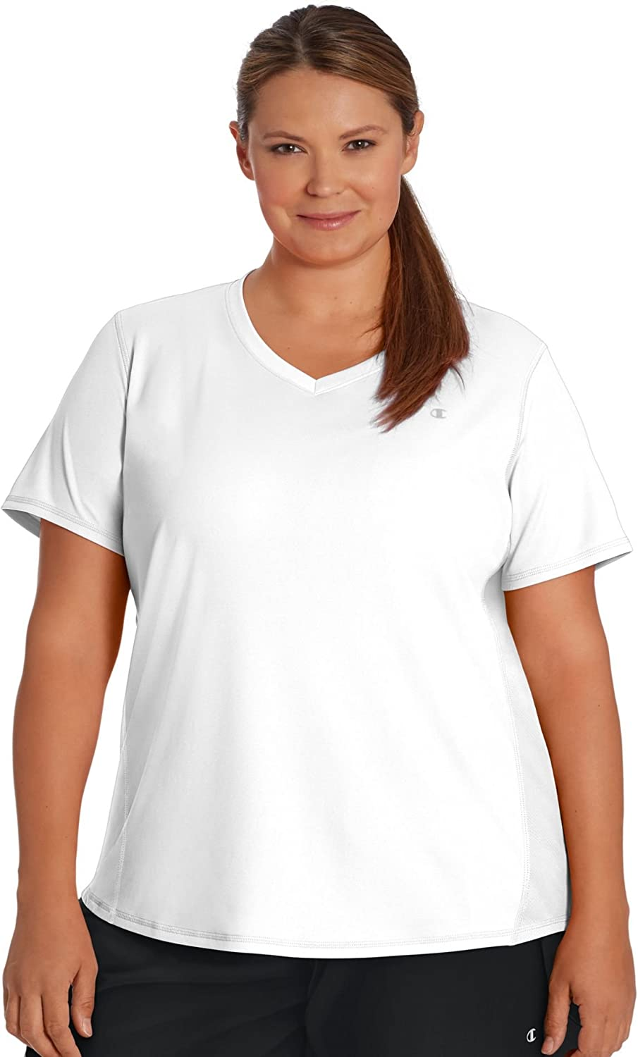 Champion Womens Plus Size Double Dry Select Tee with FreshIQ