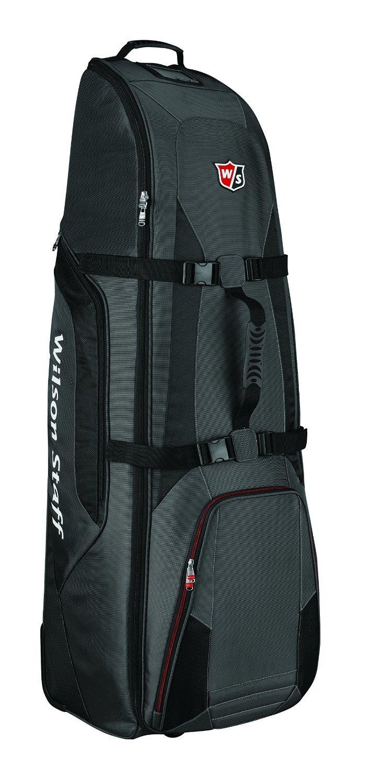 Wilson Sac de transport à roulettes pour équipement de golf noir Noir N/A B00H5AX4P6