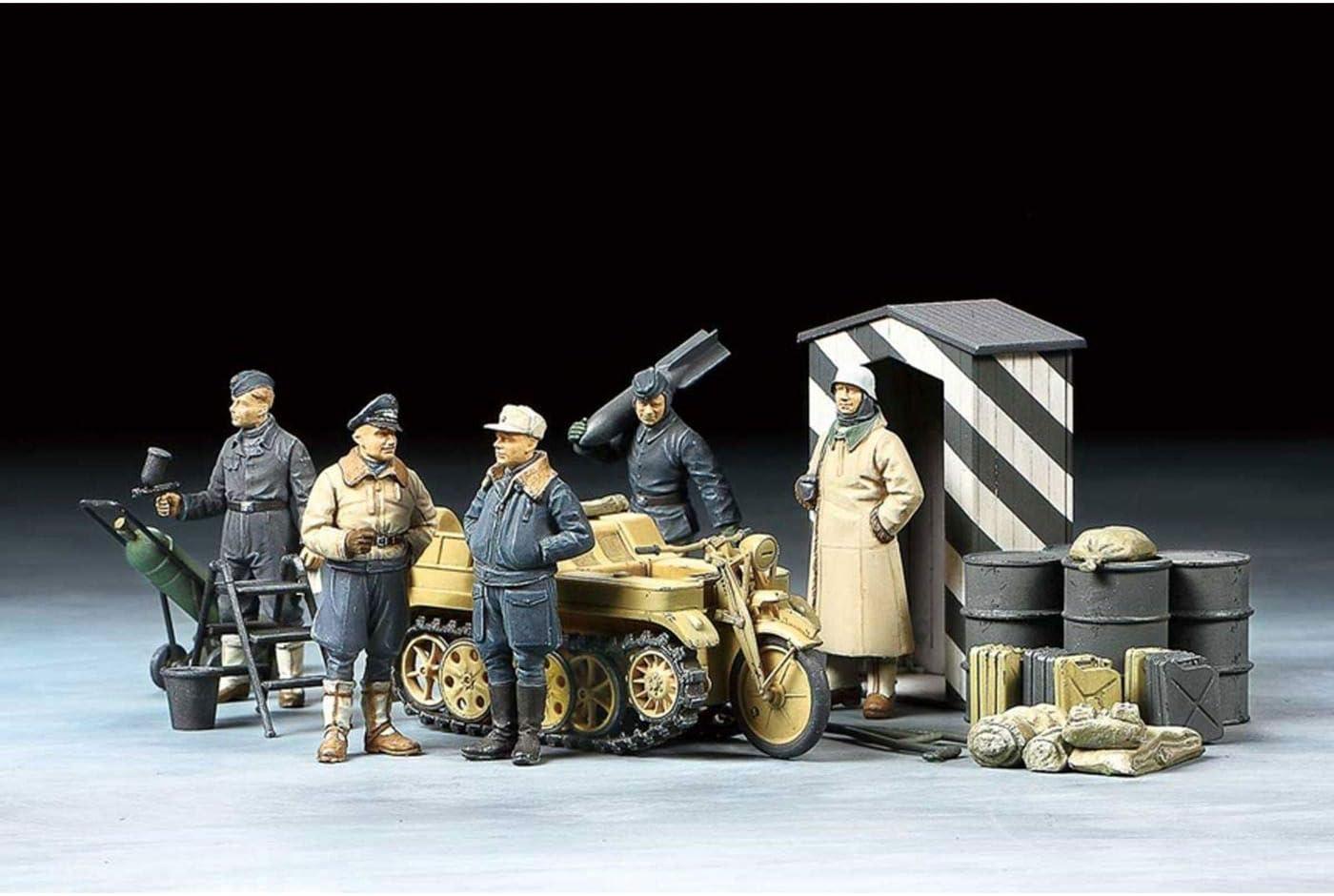 Tamiya 32412 32412-1:48 Juego de Figuras alemanas (5) Wint.m. Kkrad, modelismo, Kit de Montaje de plástico, Manualidades, Hobby, Pegar, Kit de Montaje de plástico, sin Pintar.