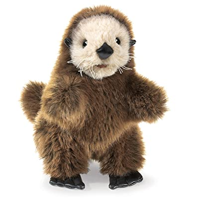 Folkmanis Baby Sea Otter Hand Puppet: Toys & Games