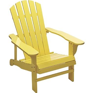 Kotulas Classic Yellow Painted Wood Adirondack Chair