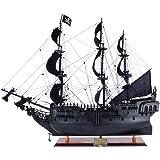 Old Modern Handicrafts Pearl Pirate Ship, Medium, Black