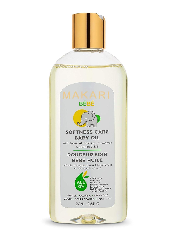 Makari Baby Oil 8.45 fl. Oz – Enriched with Sweet Almond Oil, Chamomile & Vitamin C & E - Moisturizing Baby Oil, Gentle, Non-Irritating Formula – Nourishes & Calms Baby's Skin