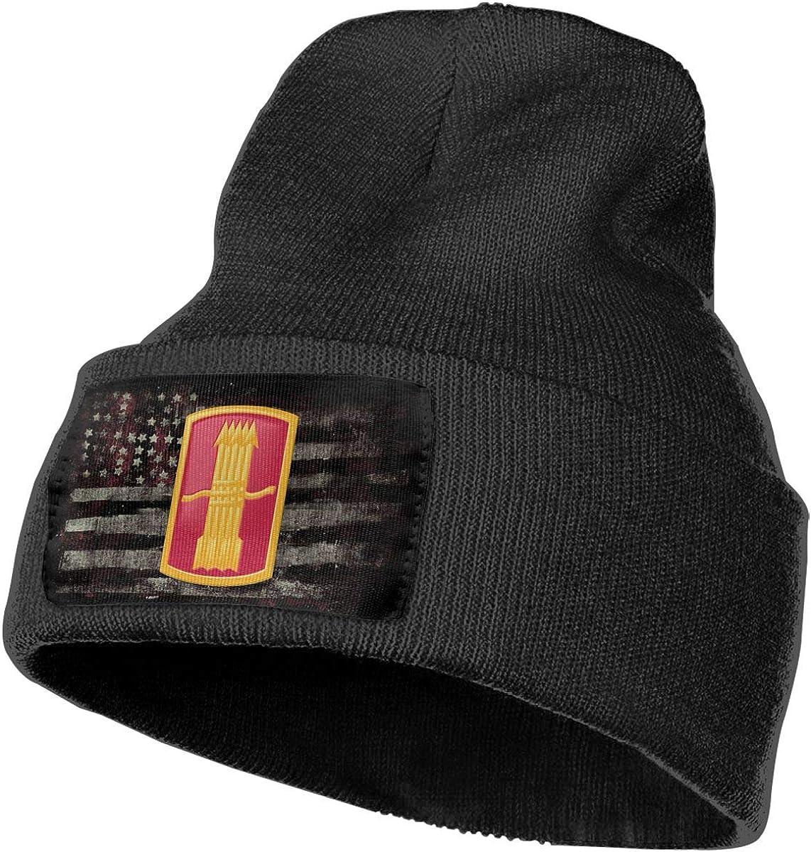 FORDSAN CP Army 197th Field Artillery Brigade New Hampshire Mens Beanie Cap Skull Cap Winter Warm Knitting Hats.