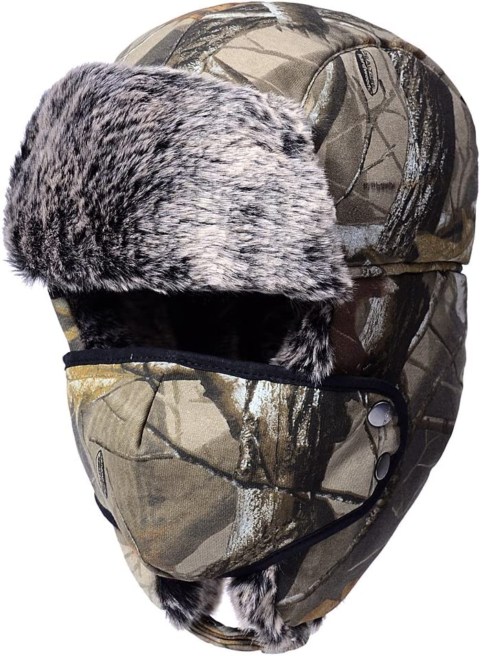 Odema Unisex Nylon Russian Style Winter Ear Flap Hat Camouflage One Size : Clothing