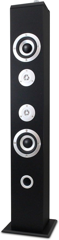 Metronic 477091 Bluetooth Lautsprecher Säule Shadow Tower 160w Schwarz Audio Hifi