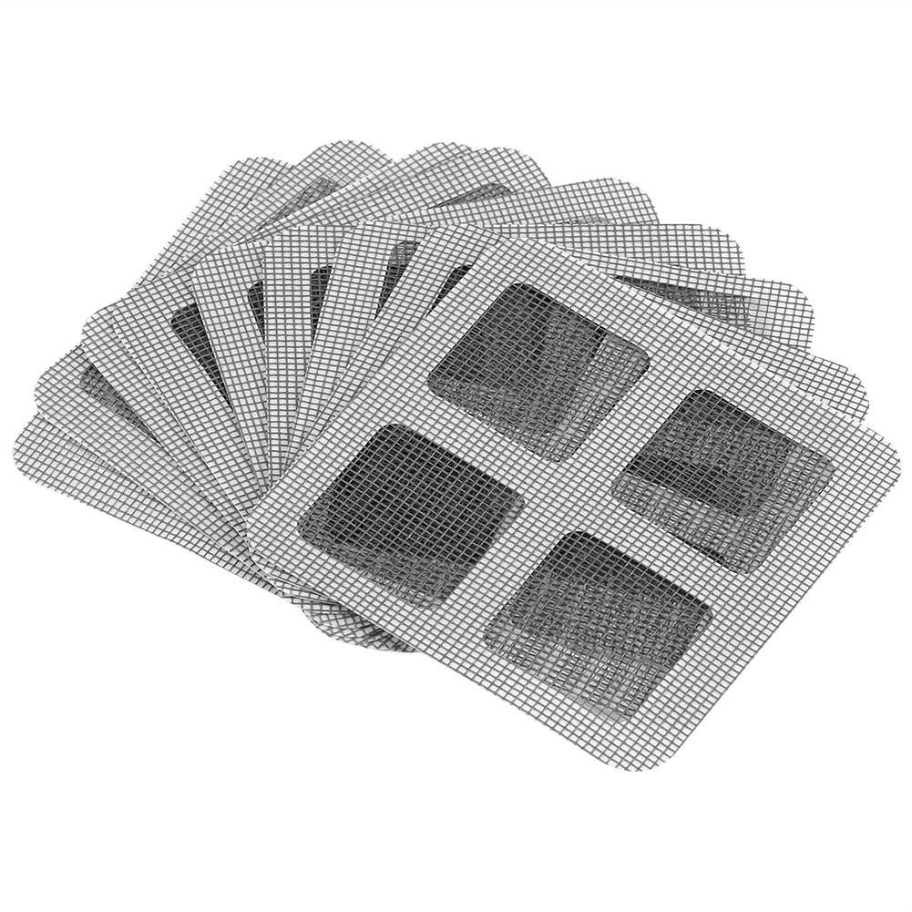 Zerodis 9Pcs Window and Door Screen Repair Patch Summer Anti-mosquito Netting Patch Adhesive Repair Broken Holes Mesh