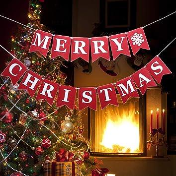 Amazon.com: NKIPORU - Cartel de Navidad para fiestas ...