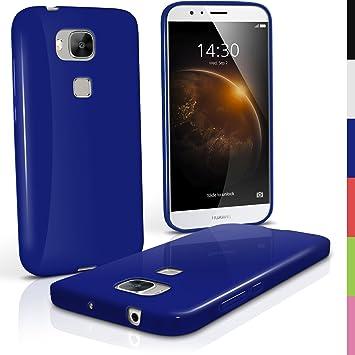 iGadgitz u4186 Funda TPU para Huawei G8 Case Carcasa con Protector – Azul