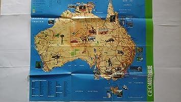 Carte Geographique Australie Gratuit Grand Format.Poster Carte De L Australie 91 5cm X 61cm Un Poster