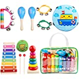 Childom Kids Musical Instruments Musical Instruments Wood Xylophone for Kids Children, Child Wooden Music Shakers Percussion