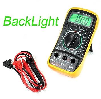 Amazon excel xl830l digital 3 12 lcd voltmeter ammeter excel xl830l digital 3 12 lcd voltmeter ammeter ohmmeter multimeter black yellow fandeluxe Images