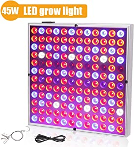Grow Light 45W LED Grow Lights for Indoor Plants UV IR Plant Lamp for Hydroponics Greenhouse Vegetable and Flowers