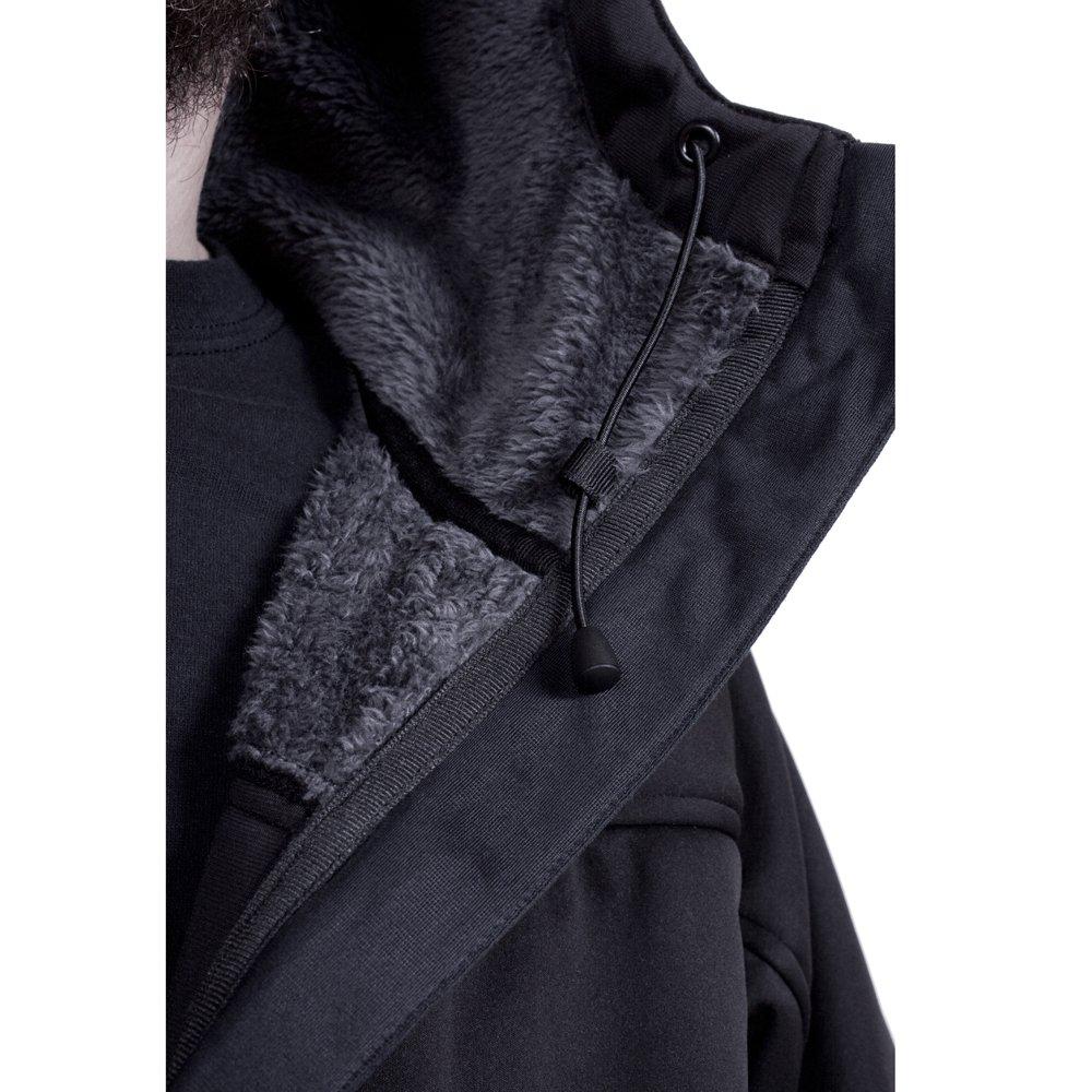 Grund/éns Gage Breathable Anuri Wind Proof Hooded Fleece Jacket Black XXL