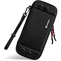 tomtoc Ultra Slim Carrying Case Fit for Nintendo Switch, Original Patent Portable Hard Shell Travel Case Pouch Protective Cover, 10 Game Cartridges, Military Level Protection, Black
