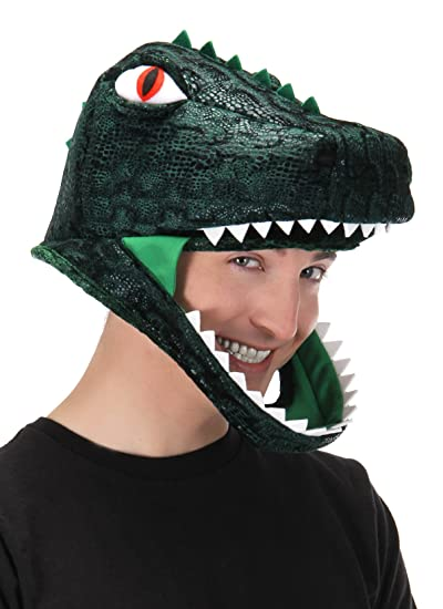 Amazon.com  T-Rex Dinosaur Costume Jawesome Hat by elope  Clothing 593151998bca