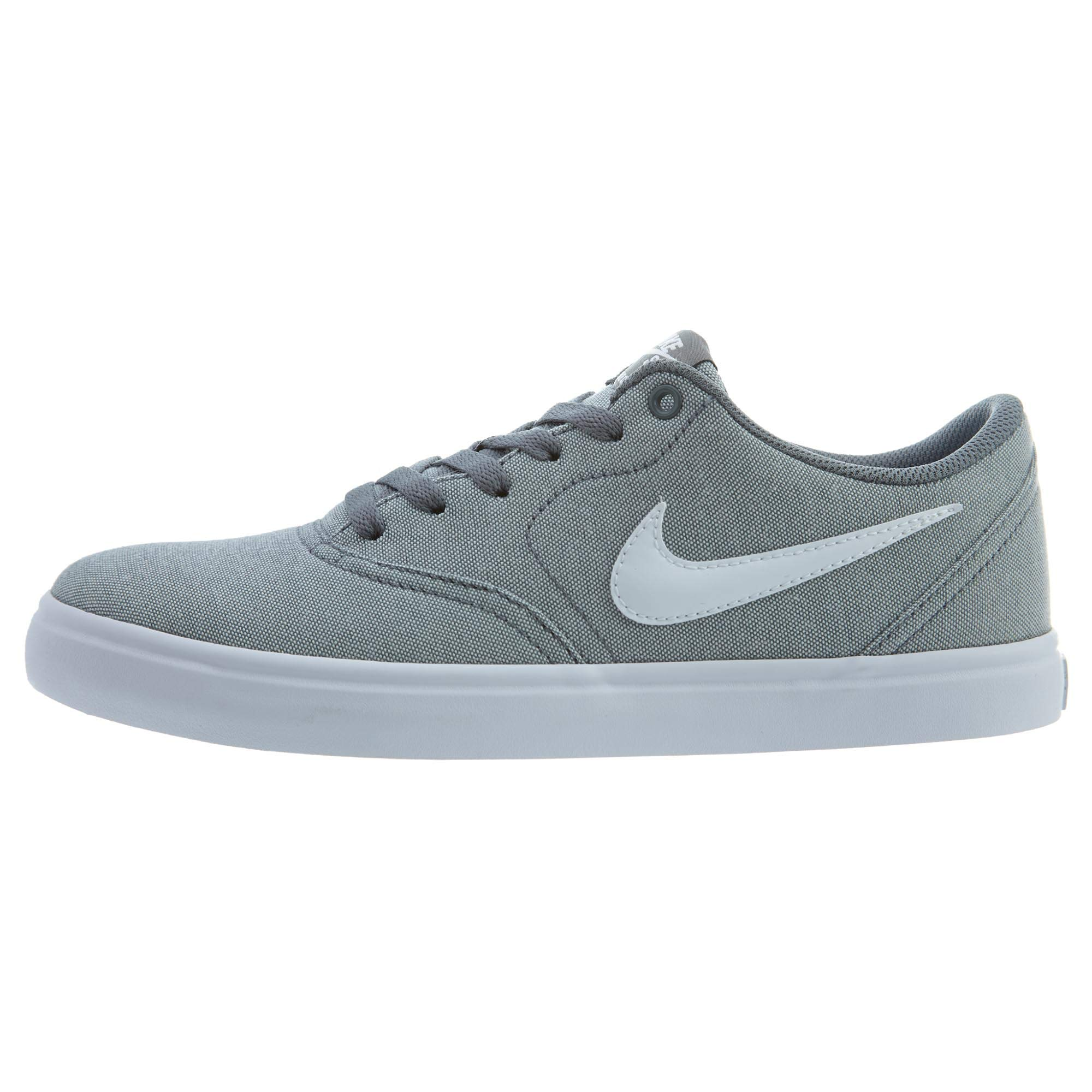 Nike 843896-003: SB Check Solar Canvas Mens Cool Grey/White Sneakers (10.5 D(M) US)