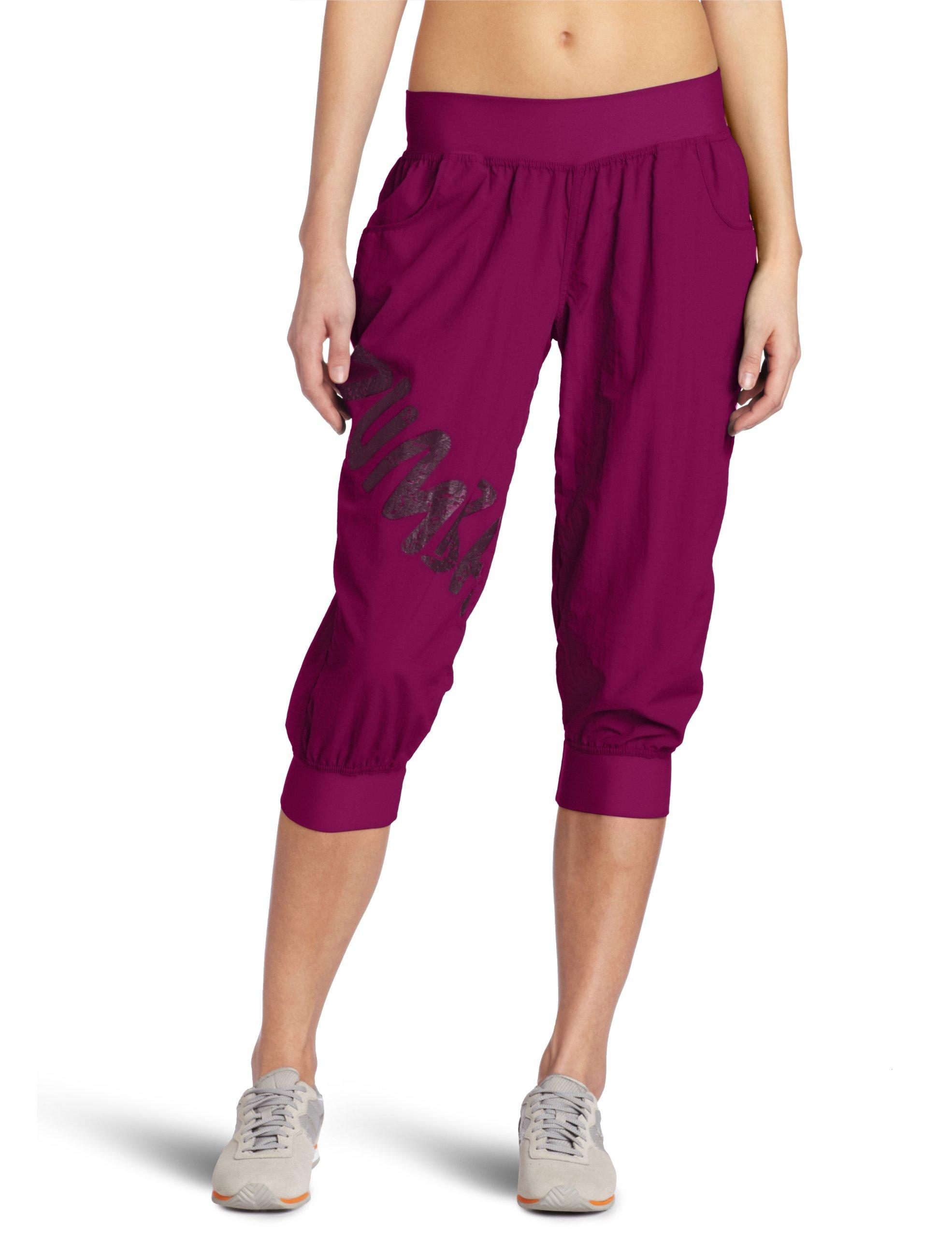 Zumba Fitness LLC Women's Feelin It Cargo Capri, Plum, XX-Large by Zumba