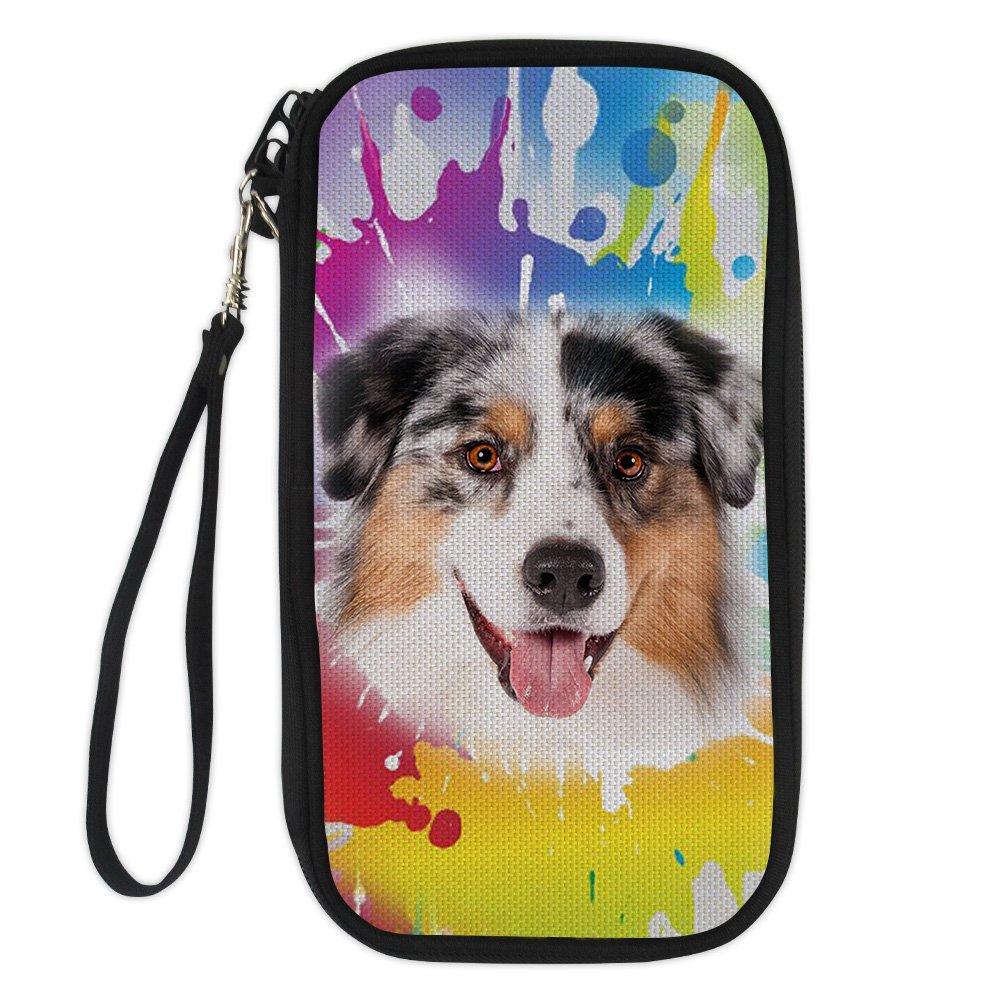 Coloranimal Colorful Animal 3D Dog Printed Travel Accesspries Passport Holder