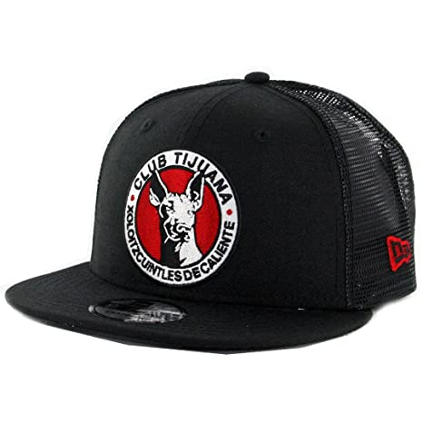 3c2f2e927a7 Image Unavailable. Image not available for. Color  New Era 9Fifty Tijuana  Xolos Official Trucker Snapback Hat (Black) ...
