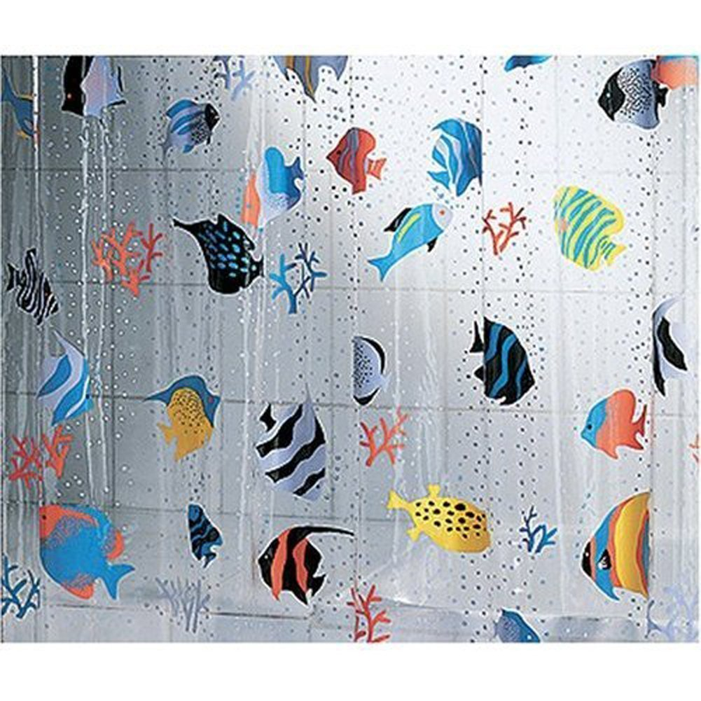 Style selections eva peva print multi fish shower curtain at lowes com - Wonderful Shower Curtain Fish Part 10 Amazon Com Spirella 3d Fish Pvc