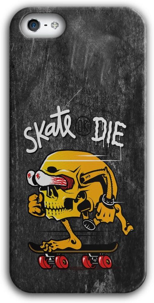Wellcoda Skate Or Die Tête de Mort Funny 3D iPhone 5/5S 6/6S 6 ...