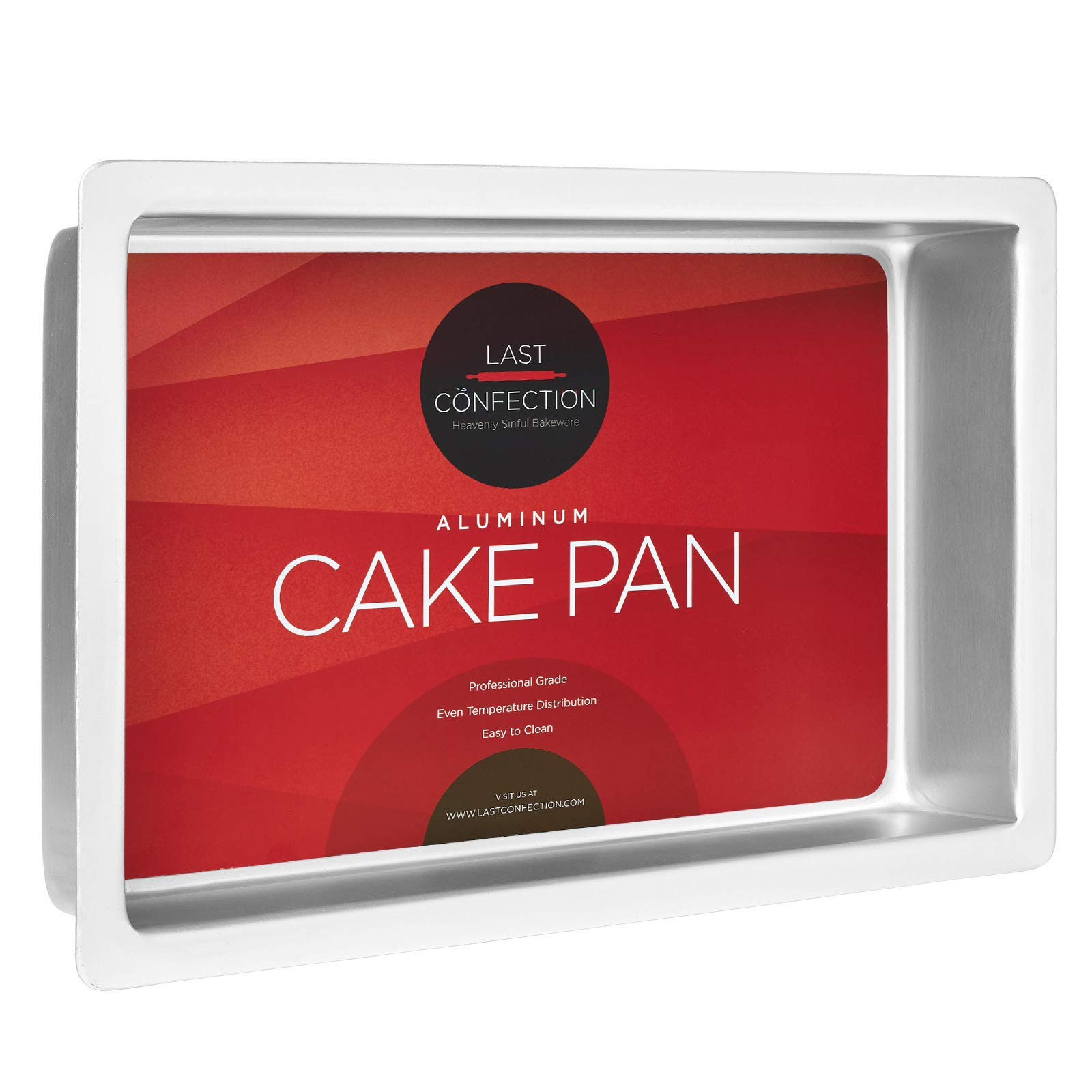 Last Confection 12'' x 18'' x 2'' Deep Rectangular Aluminum Cake Pan - Professional Bakeware