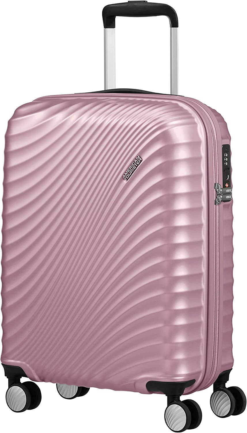 American Tourister Jetglam Spinner S Equipaje de Mano, 55 cm, 35.5 L, Rosa (Metallic Pink)