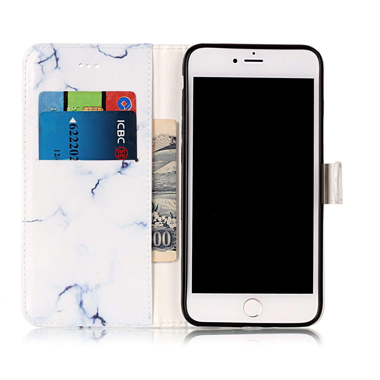 kompatibel mit Huawei P20 Lite Schutzh/ülle PU Leder Brieftasche Marmor Gemalt Ledertasche im Bookstyle Flip Wallet Cover Stand Case Card Slot Leder Tasche Lederh/ülle