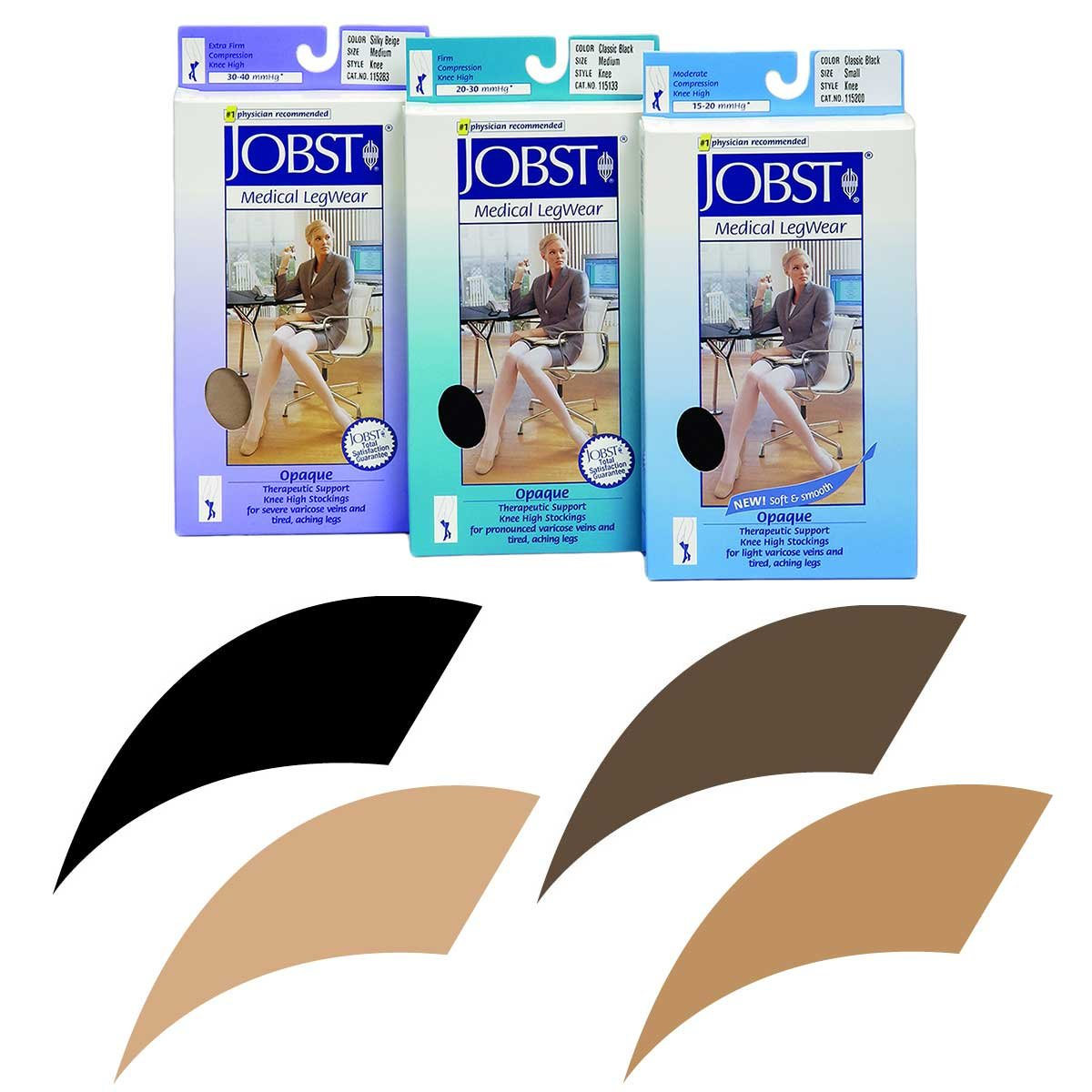 BSN Med/-Beiersdorf /Jobst (a) Jobst Opaque Pantyhose 20-30 Black Large by K10 Medical Supplies