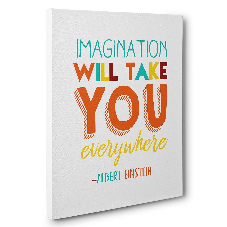Imagination Will Take You Everywhere Albert Einstein Quote Canvas Wall Art Handmade