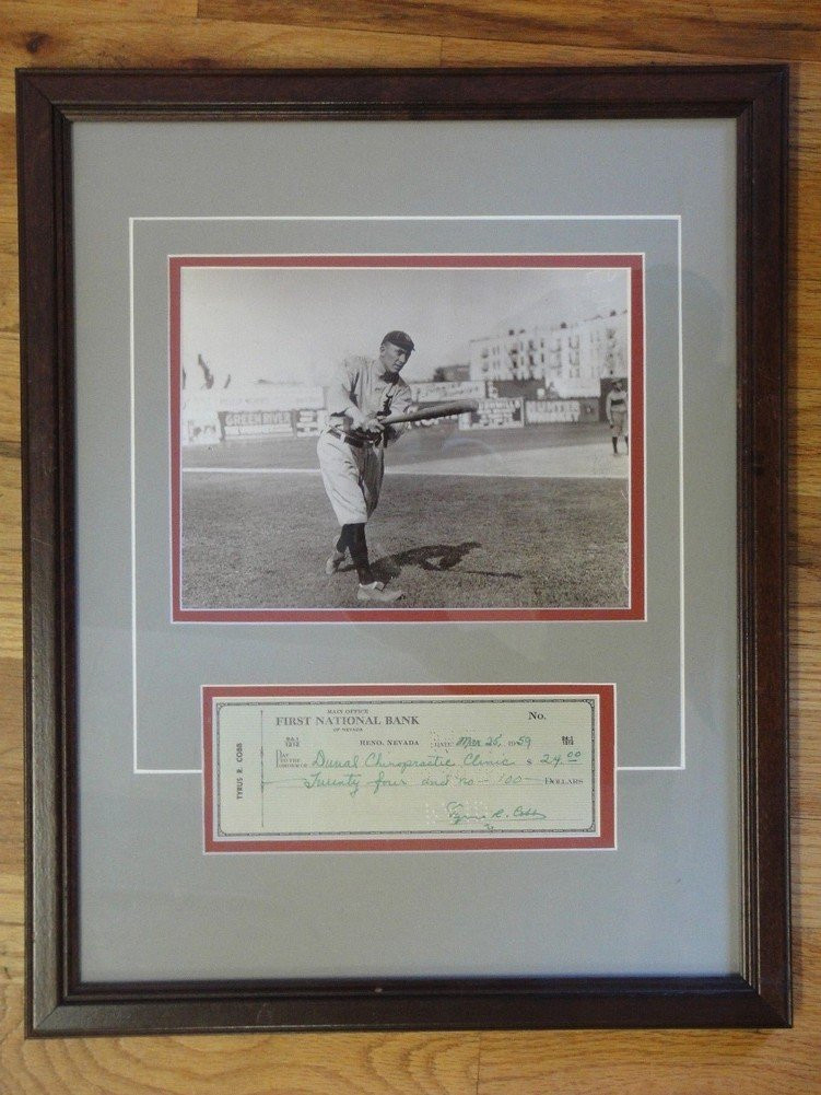 Ty Cobb Autographed Signature 1959 Personal Check - PSA/DNA Authentic Certified Autographed Signature at Amazons Sports Collectibles Store