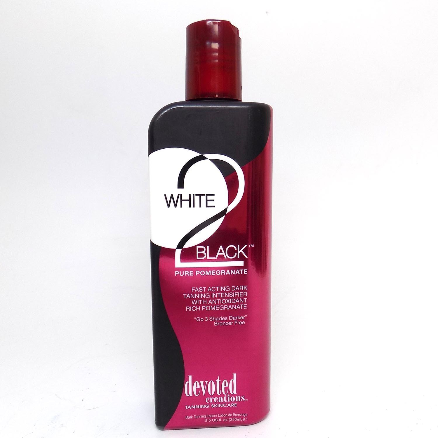 Devoted Creations White 2 Black Pure Pomegranate sunbed tanning lotion cream (250ml bottle)