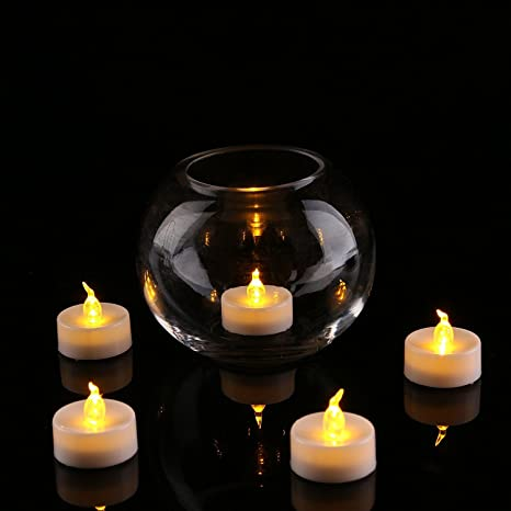 Goyal TL-1BT LED Flameless YELLOW Tea Light Candles with Extra Batteries (SET OF 6)