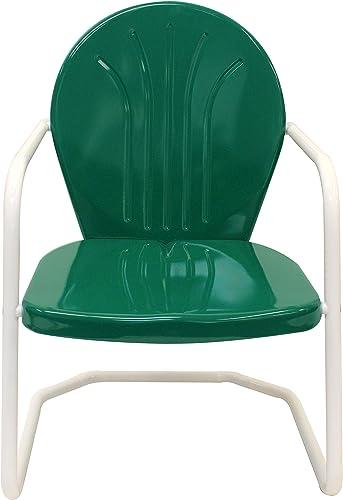 Leigh Country Dark Green TX 93508 Retro Metal Chair