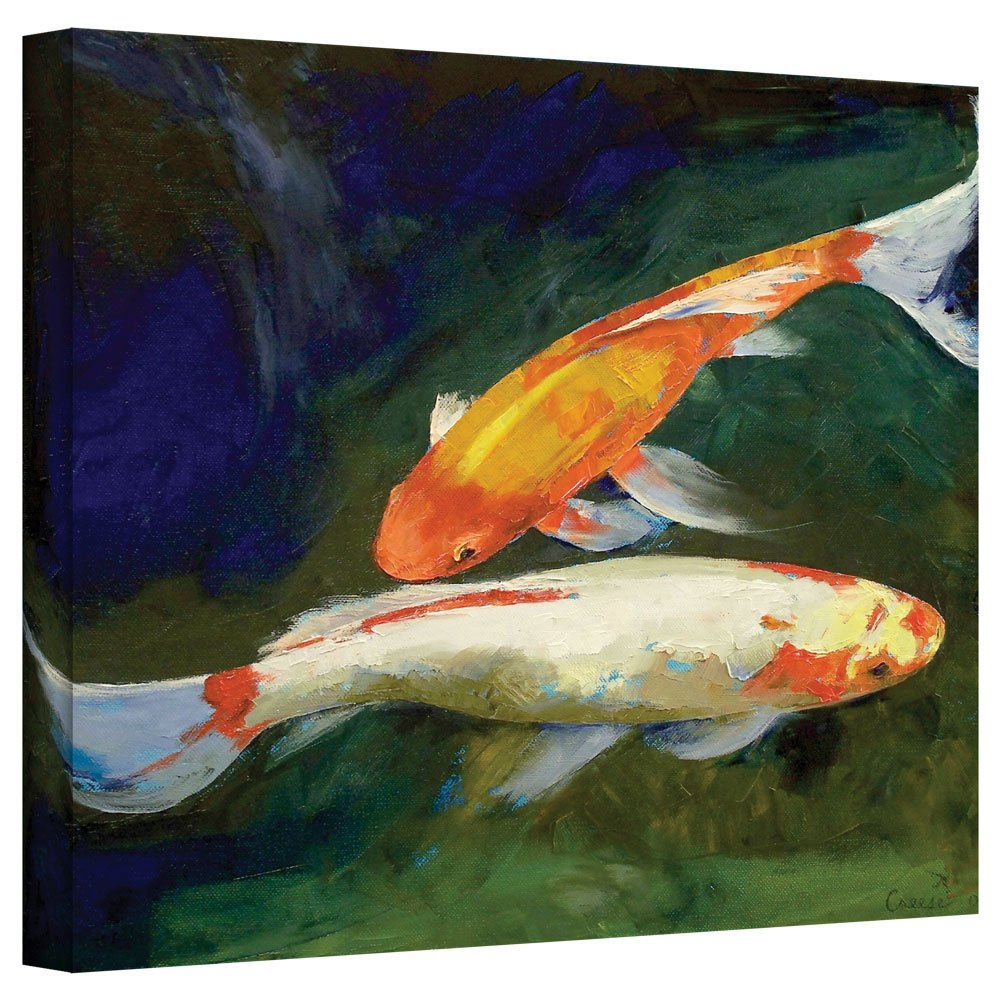 Art Wall Michael Creese 'Feng Shui Koi Fish' Gallery Wrapped Canvas, 14x18 Creese-012-14x18-w