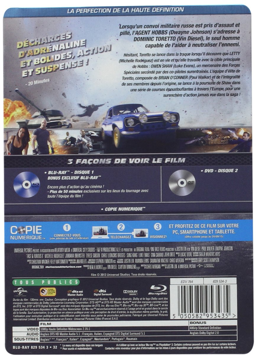 Fast & Furious 6 [Francia] [Blu-ray]: Amazon.es: Vin Diesel, Paul ...