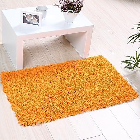 doccia parte inferiore antiscivolo tappeto da cucina corridoio tappeto da bagno morbido misura 45 cm lxh Arancion tappetino a setole lunghe tappeto dingresso zerbino assorbente per bagno