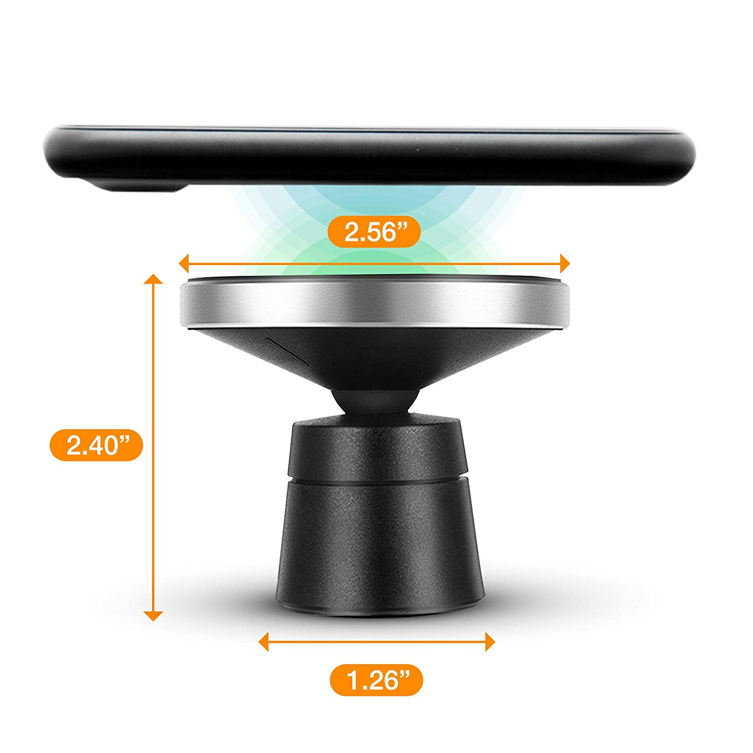 Samsung Galaxy Note 8//S8//S8+//S7//S6 edge+//Note 5 and All QI-Enabled Deviced NCORE WT-W5-BLACK Magnetic Wireless Car Charger for Apple iPhone X//8//8 Plus