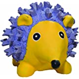 HuggleHounds Extremely Durable and Squeaky Ruff-Tex Violet the Hedgehog Dog Toy
