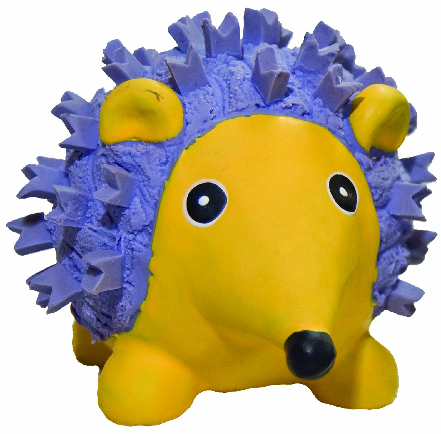 HuggleHounds Ruff-Tex Squeaky Tough Dog Chew Toy All Natural, Hedgehog, Large by HuggleHounds (Image #1)
