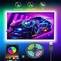 Tiras LED USB 3M,SHOPLED SMD 5050 Luz de fondo de TV led para iluminación de RGB de 40-60 Pulgada LED para HDTV…