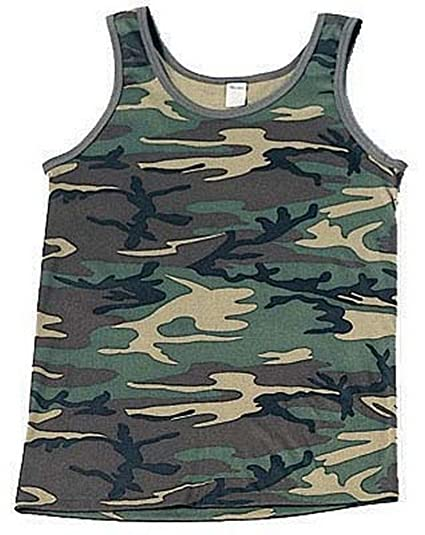 fe40419572e5e Image Unavailable. Image not available for. Color  Camouflage Tank Top  Woodland Camo