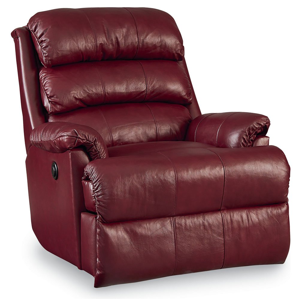 amazon com revive leather rocker recliner with power recline