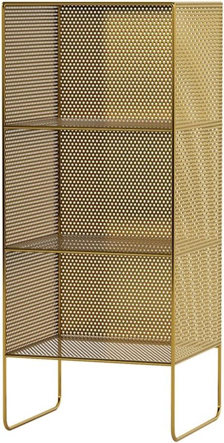Liuhoulin Estructura de Hierro nórdica Cabecera Piso Plataforma de Almacenamiento de Sala de Estar Simple mercancía diarias estantería Marco Decorativo Revistero (Color : Gold, Size : Height: 84CM): Amazon.es: Hogar