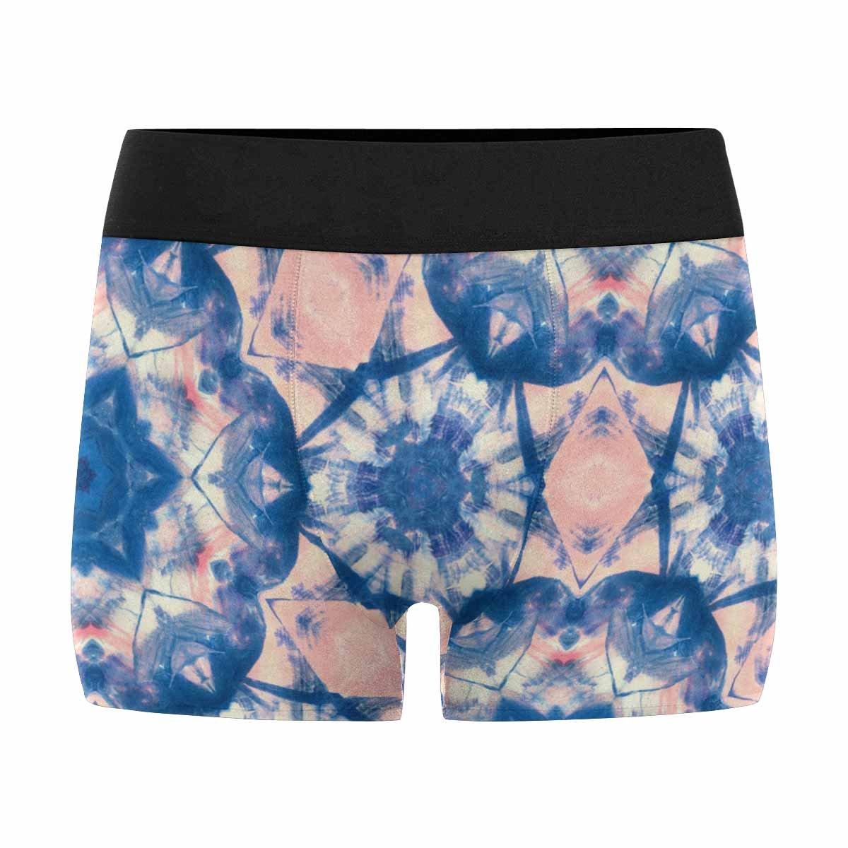 XS-3XL INTERESTPRINT Mens Boxer Briefs Underwear Abstract Hand Painted Tie Dye Shibori Watercolor Kaleidoscopic