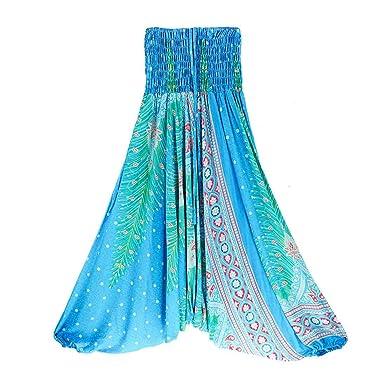 Aiweijia Pantalones Harem de Mujer Pantalón de Yoga Bohemio ...