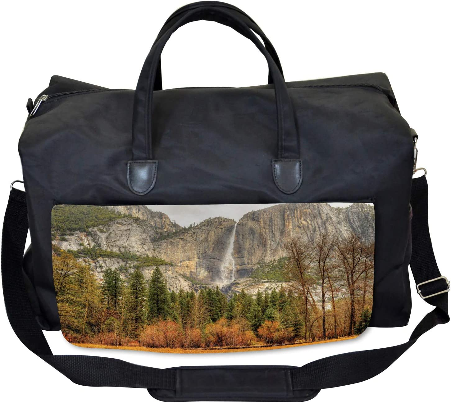 Yosemite Falls Trees Ambesonne Nature Gym Bag Large Weekender Carry-on